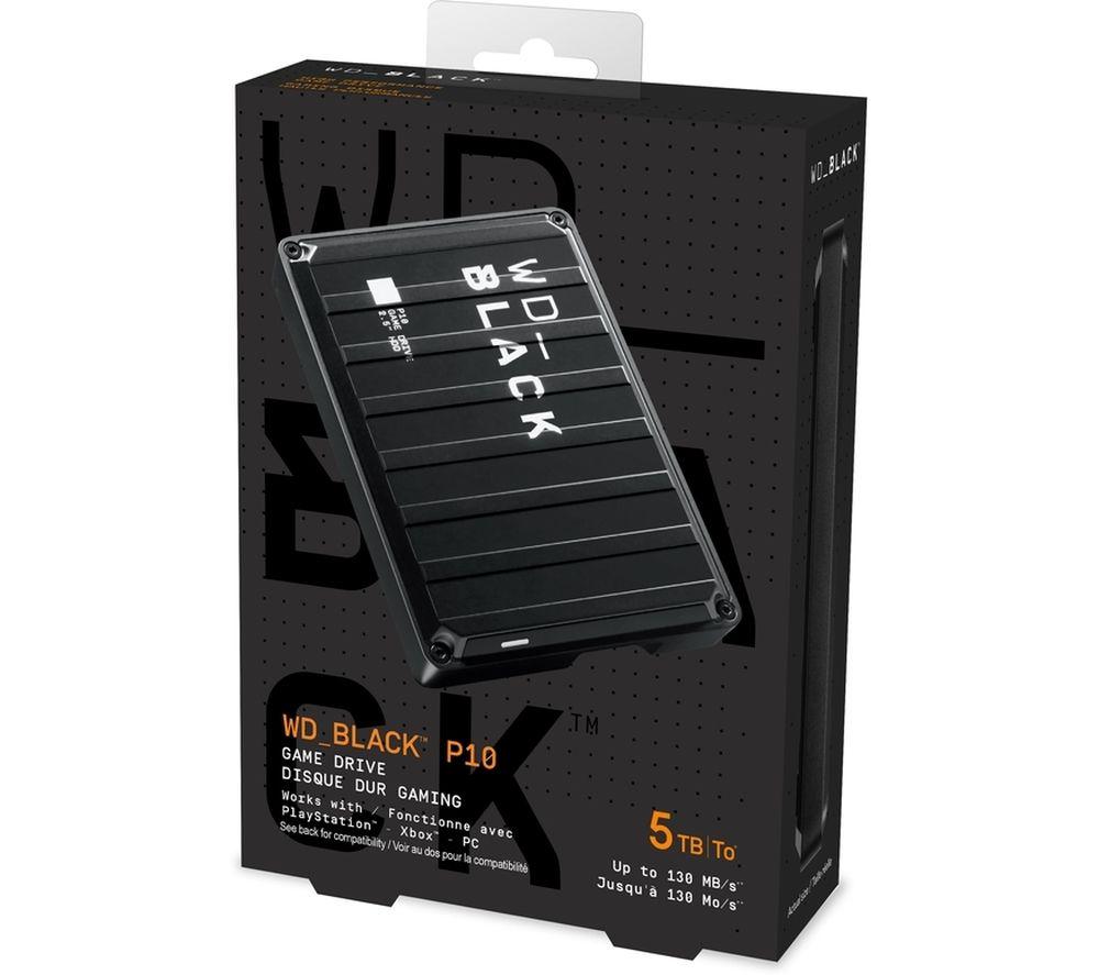 WD _BLACK P10 Game Drive - 5 TB, Black