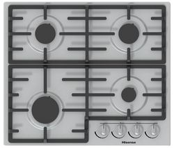 HISENSE GM643XUK Gas Hob - Stainless Steel