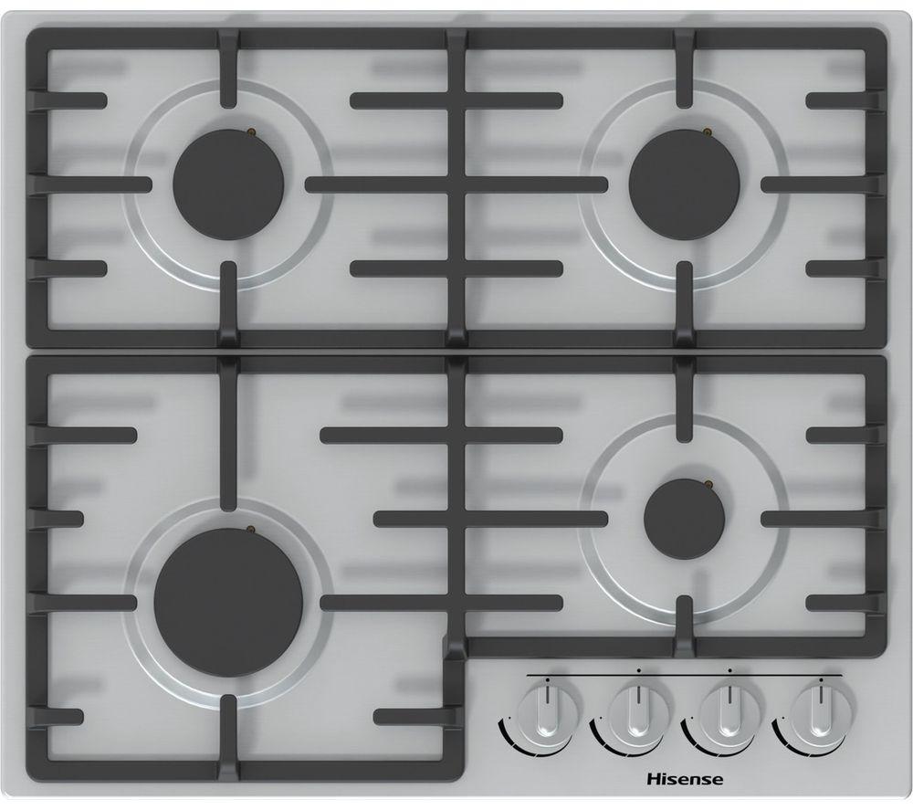 HISENSE GM643XUK Gas Hob - Stainless Steel