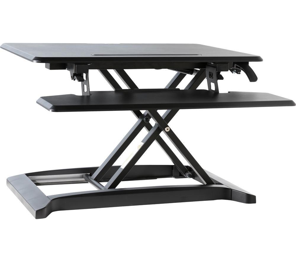 ALPHASON AW9100-BLK Standing Desk Converter - Black, Black