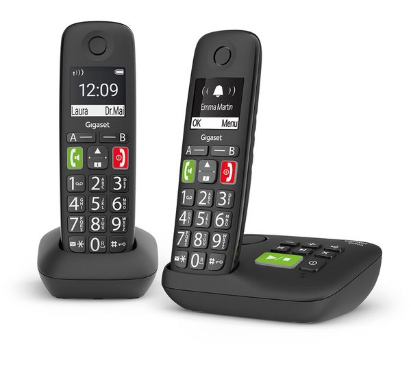 Image of GIGASET E290A Cordless Phone - Twin Handsets