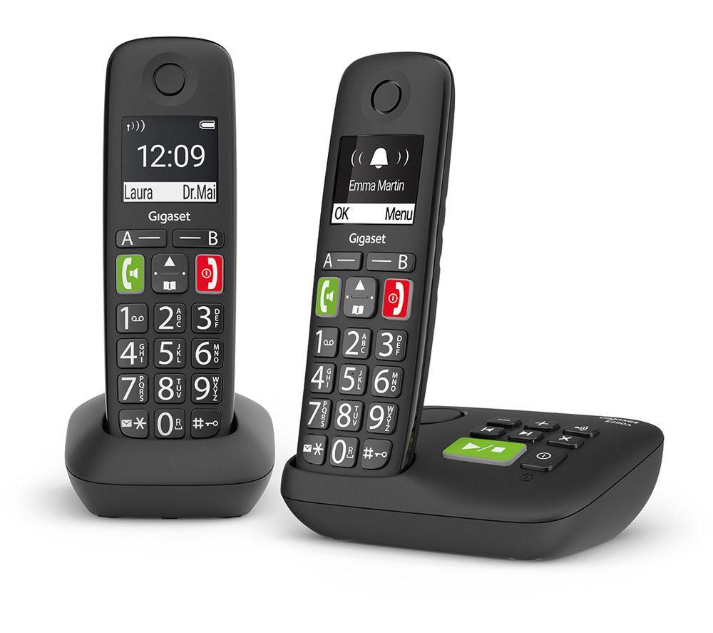 Gigaset E290a Cordless Phone Twin Handsets