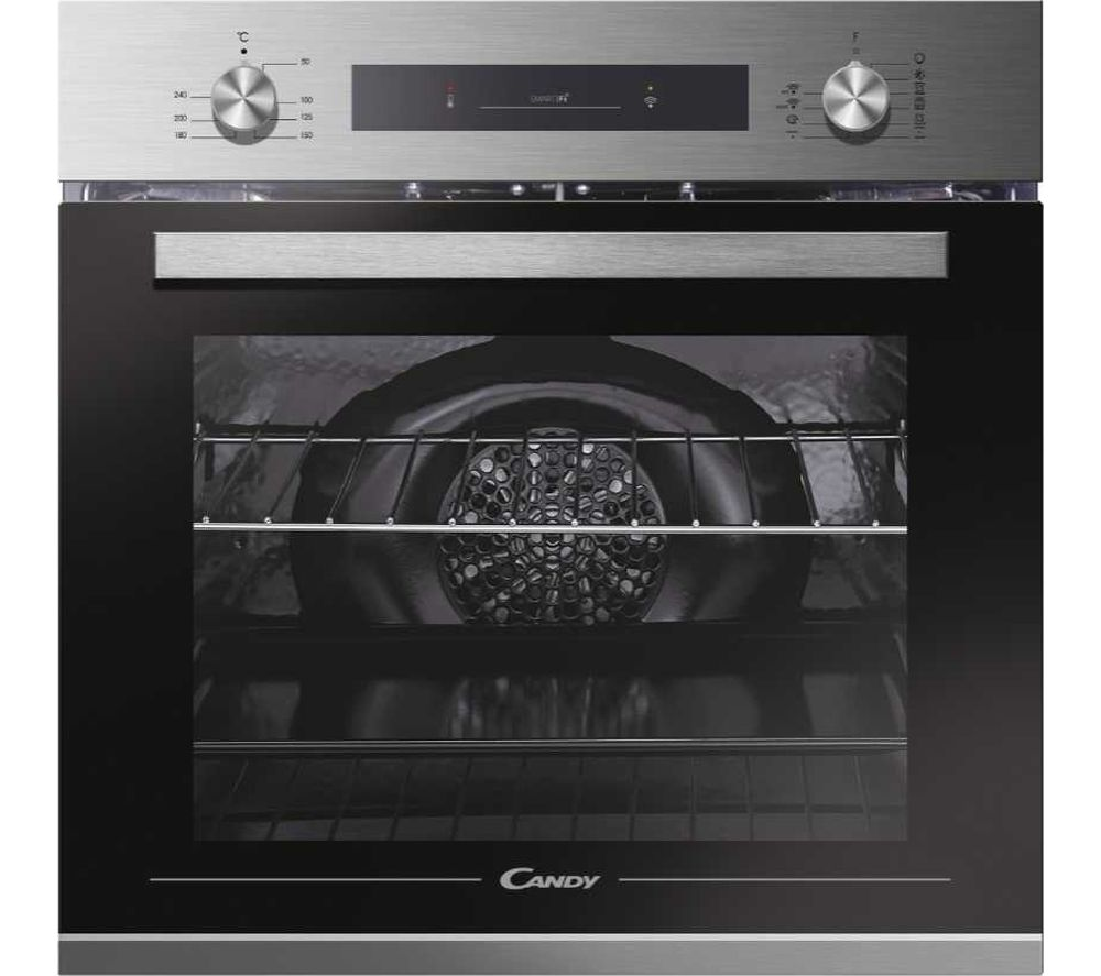 CANDY FCP602X E0E/E Electric Smart Oven - Stainless Steel & Black