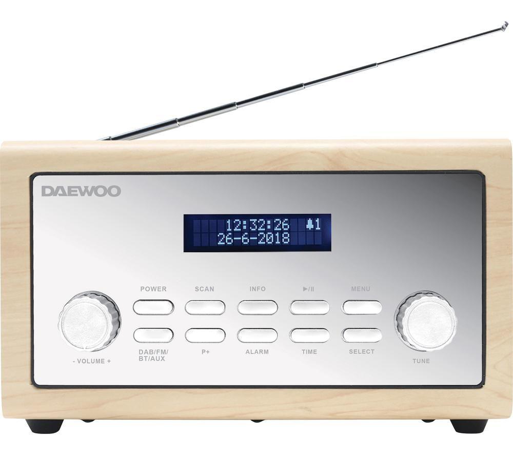 DAEWOO AVS1298 DAB+/FM Bluetooth Radio - Silver & Beige