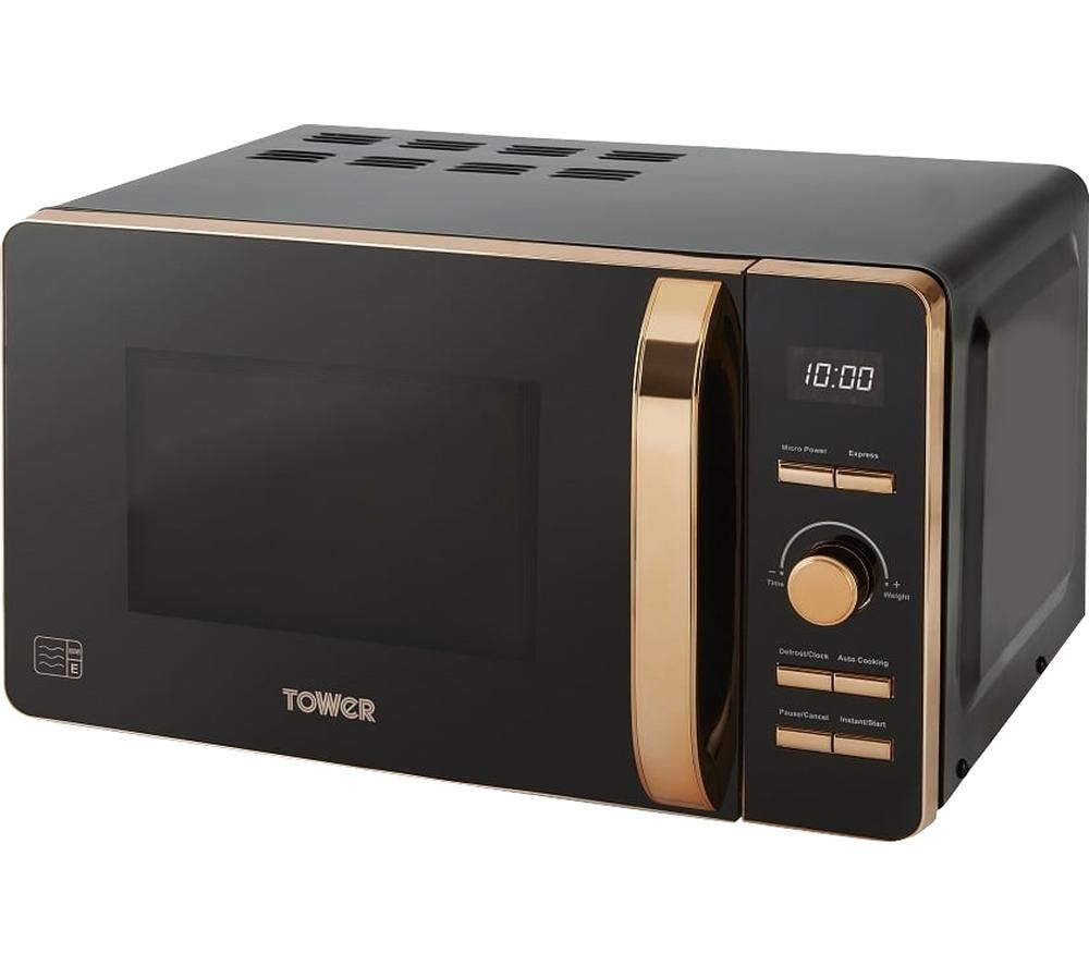 TOWER T24021 Solo Microwave - Black & Rose Gold