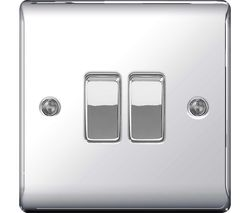 Decorative NPC42-01 Push-button Switch - Polished Chrome