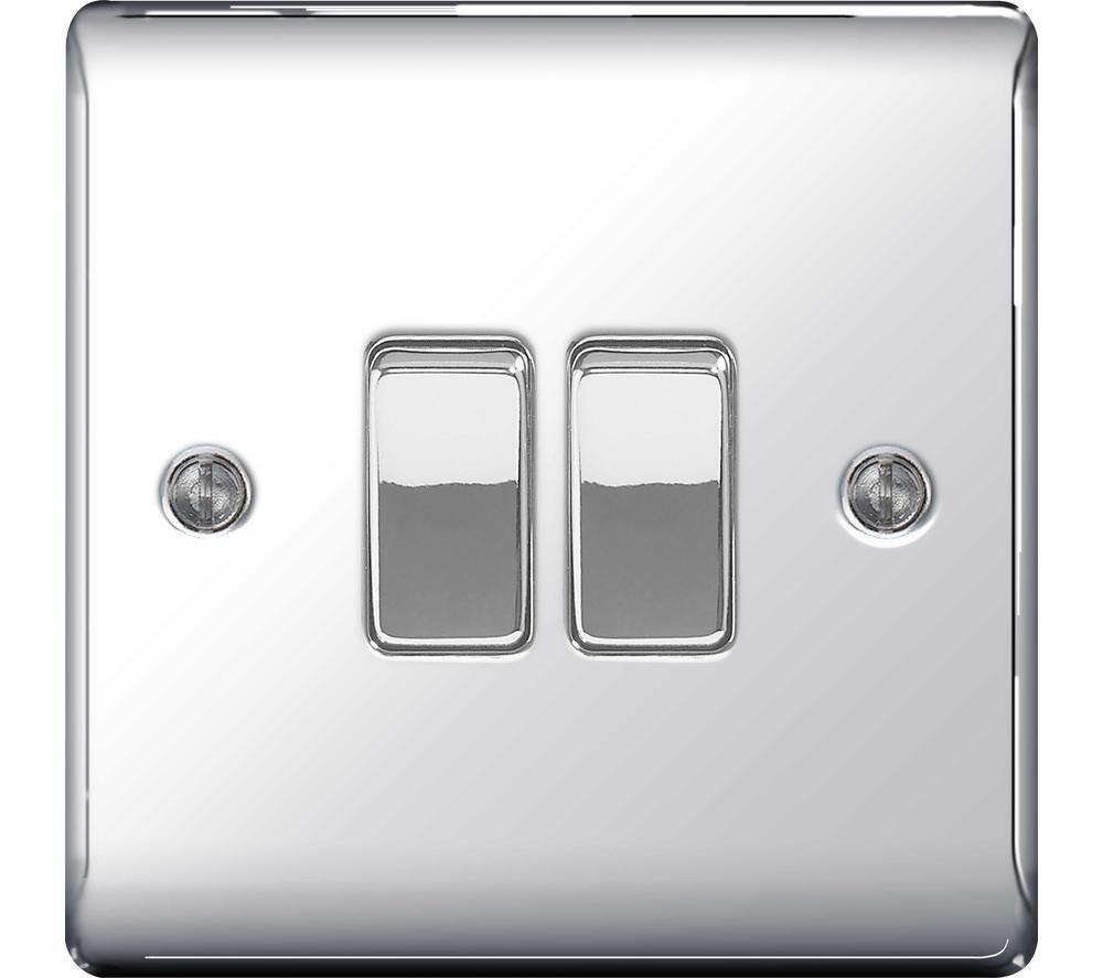 BG ELECTRICAL Decorative NPC42-01 Push-button Switch - Polished Chrome