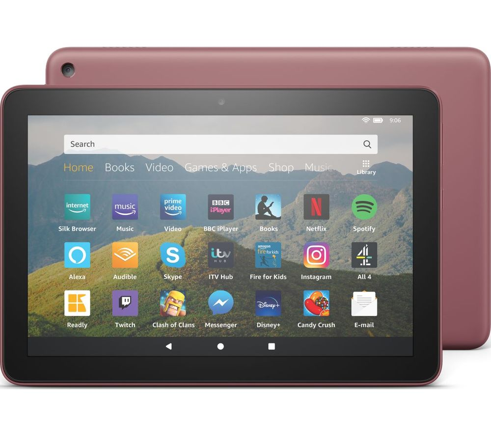 Image of AMAZON Fire HD 8 Tablet (2020) - 64 GB, Plum, Plum