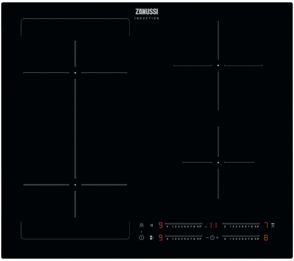 ZANUSSI JoinZone ZIFN644K Electric Induction Hob - Black, Black