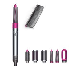 Airwrap Complete Hair Styler & De-tangling Comb - Nickel & Fuchsia