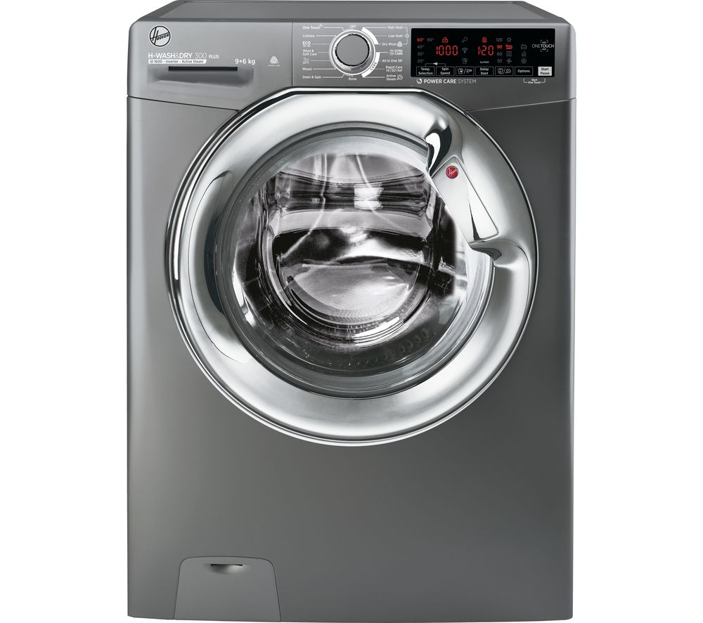 HOOVER H-Wash 300 H3DS696TAMCGE NFC 9 kg Washer Dryer - Graphite