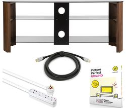 TV Stand Bundle  - TV Stand, Picture Perfect Ultra, Extension Lead & HDMI Cable