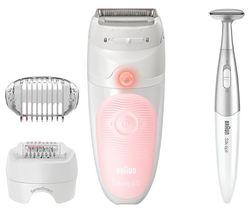 Silk-épil 5 820 SensoSmart Wet & Dry Epilator - White & Pink