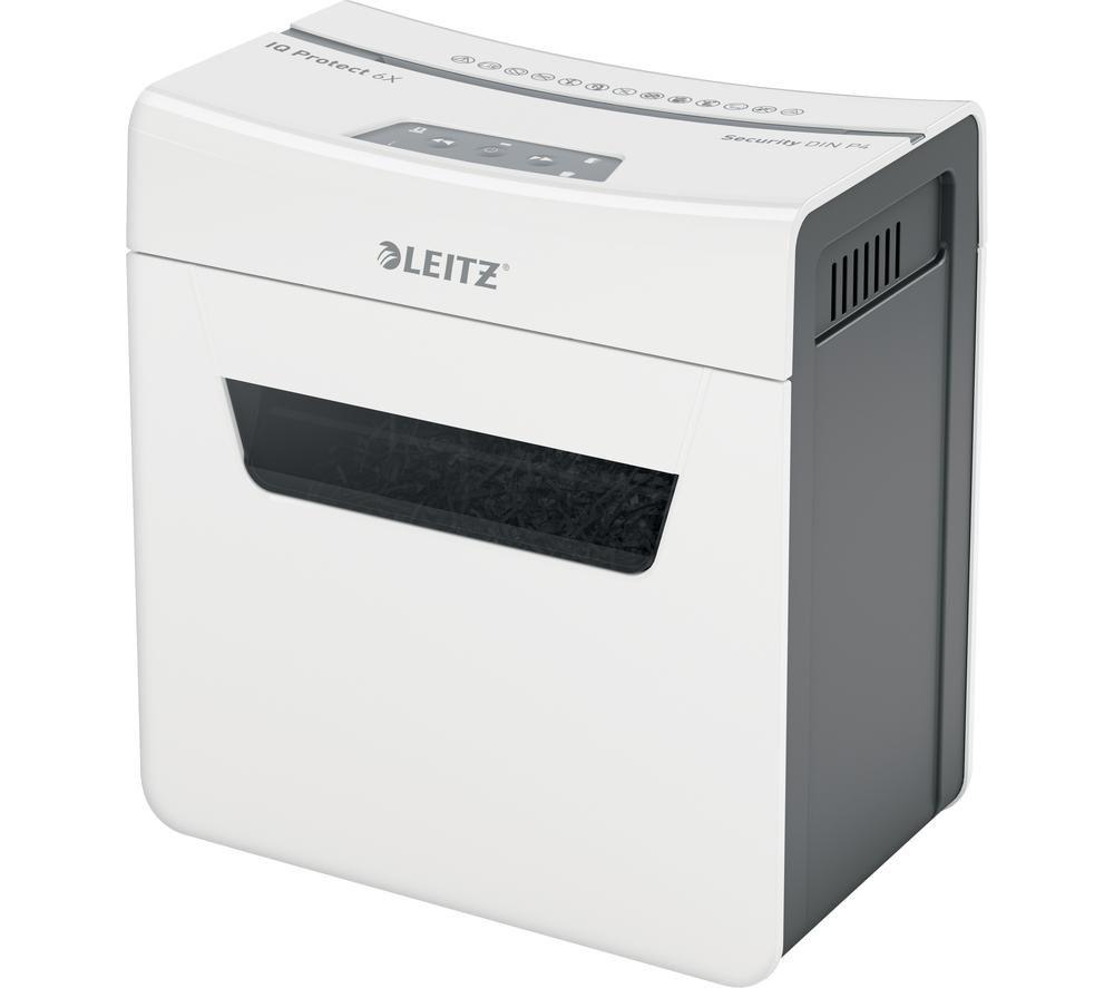 LEITZ IQ Protect 6X Cross Cut Paper Shredder