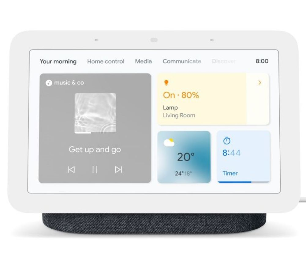 Nest Hub (2nd Gen) Smart Display with Google Assistant – Charcoal