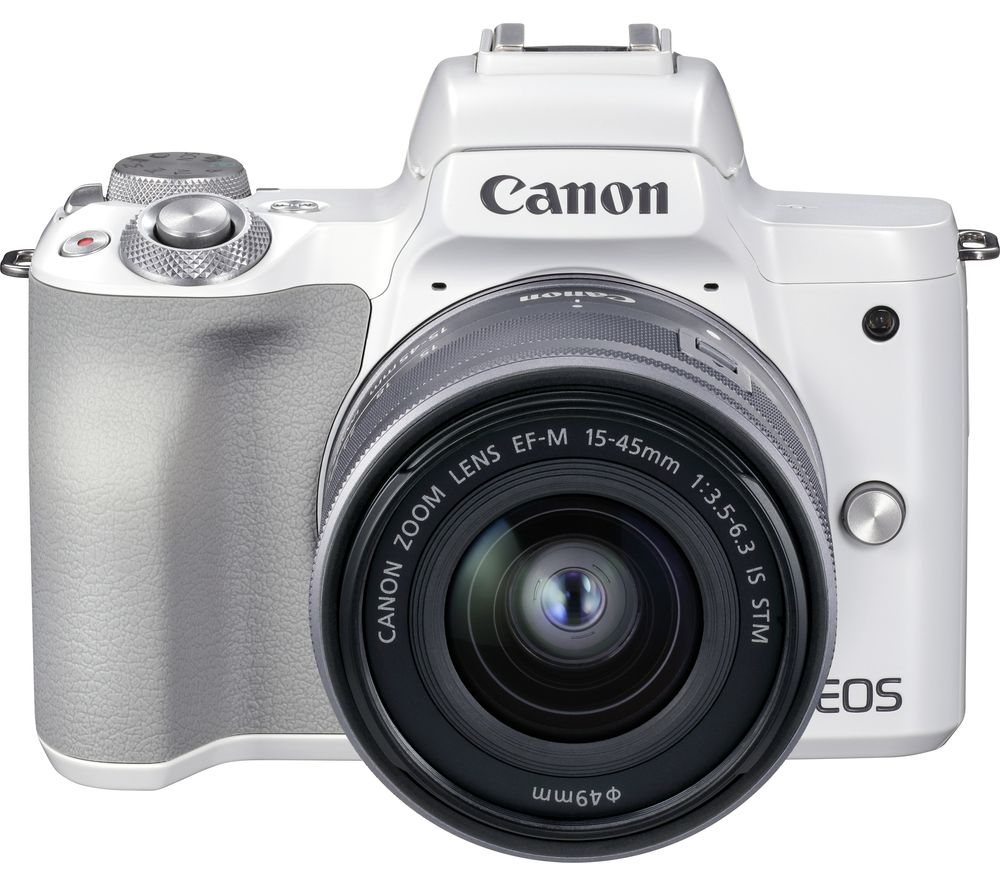 CANON EOS M50 Mark II Mirrorless Camera with EF-M 15-45 mm f/3.5-6.3 IS STM Lens - White