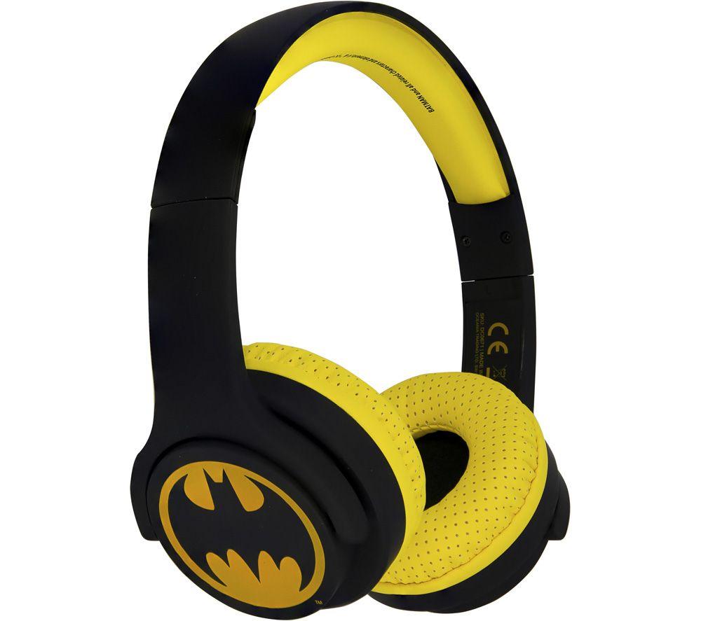 OTL DC0671 Batman Wireless Bluetooth Kids Headphones - Yellow & Black
