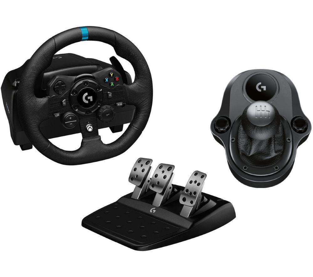 LOGITECH G923 Xbox & PC Racing Wheel, Pedals & Driving Force Shifter Bundle