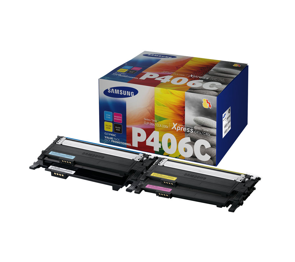 SAMSUNG P406C Cyan, Magenta, Yellow & Black Toner Cartridges - Multipack