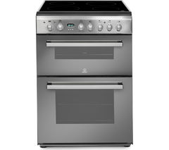 INDESIT DD60C2CX Double Electric Ceramic Cooker - Mirror