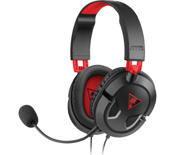 Image of TURTLE BEACH Ear Force Recon 50 Gaming Headset - Black & Red