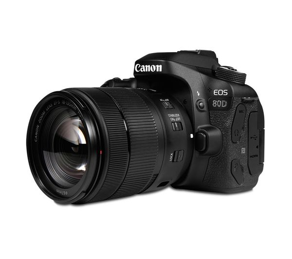 CANON EOS 80D DSLR Camera with EF-S 18-135 mm f/3 5-5 6 IS USM Lens