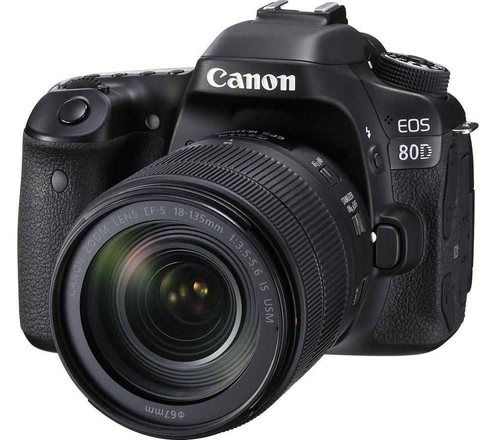 CANON EOS 80D DSLR Camera with EF-S 18-135 mm f/3.5-5.6 IS USM Lens