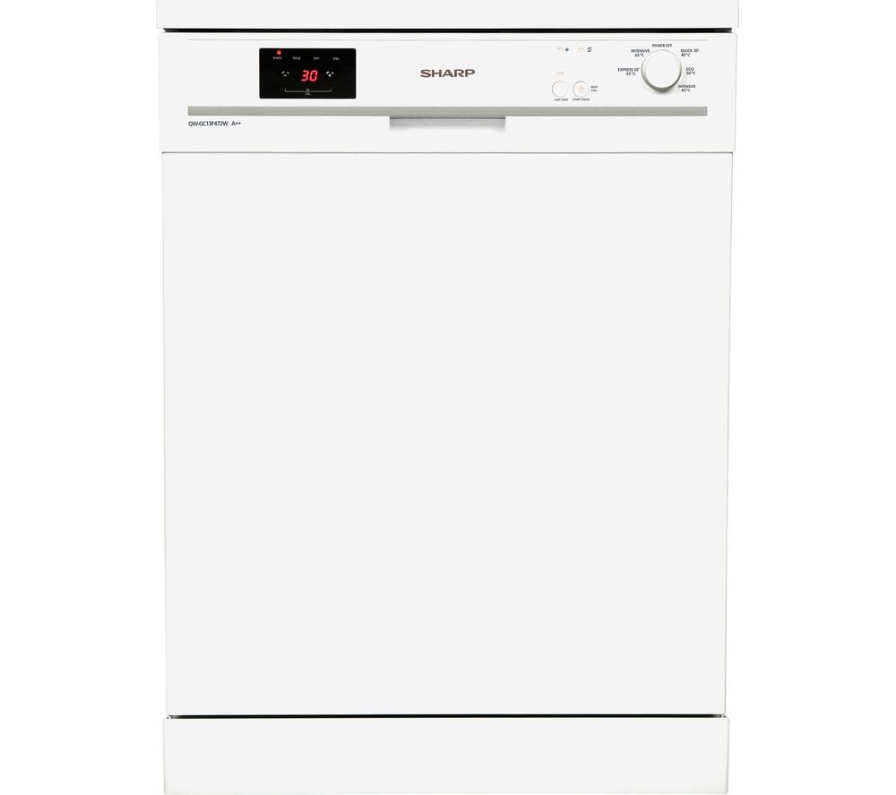 SHARP QW-GC13F472W Full-size Dishwasher - White