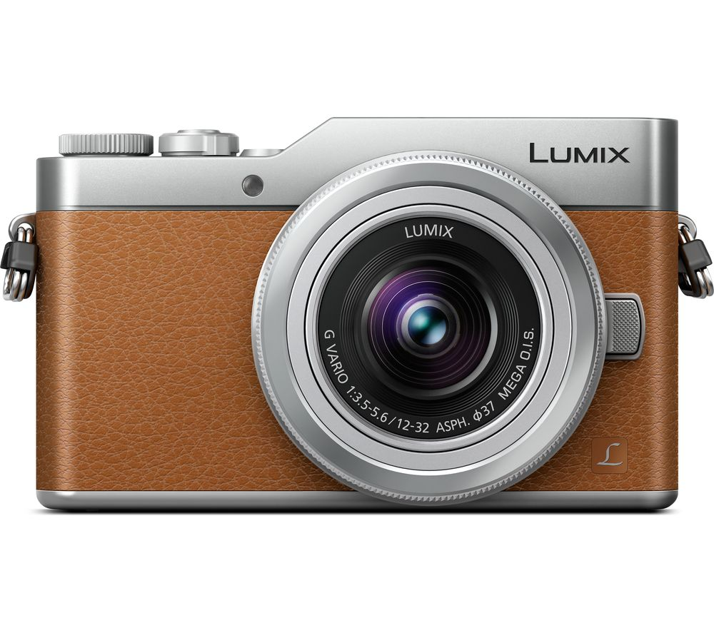 PANASONIC Lumix DC-GX800 Mirrorless Camera with 12-32 mm f/3.5-5.6 Lens - Tan