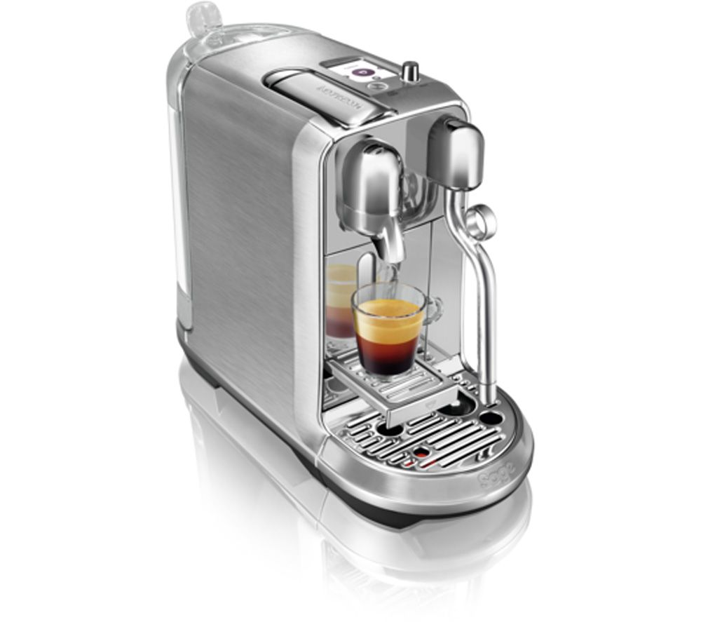 buy nespresso by sage creatista plus bne800bss coffee machine stainless steel free delivery. Black Bedroom Furniture Sets. Home Design Ideas