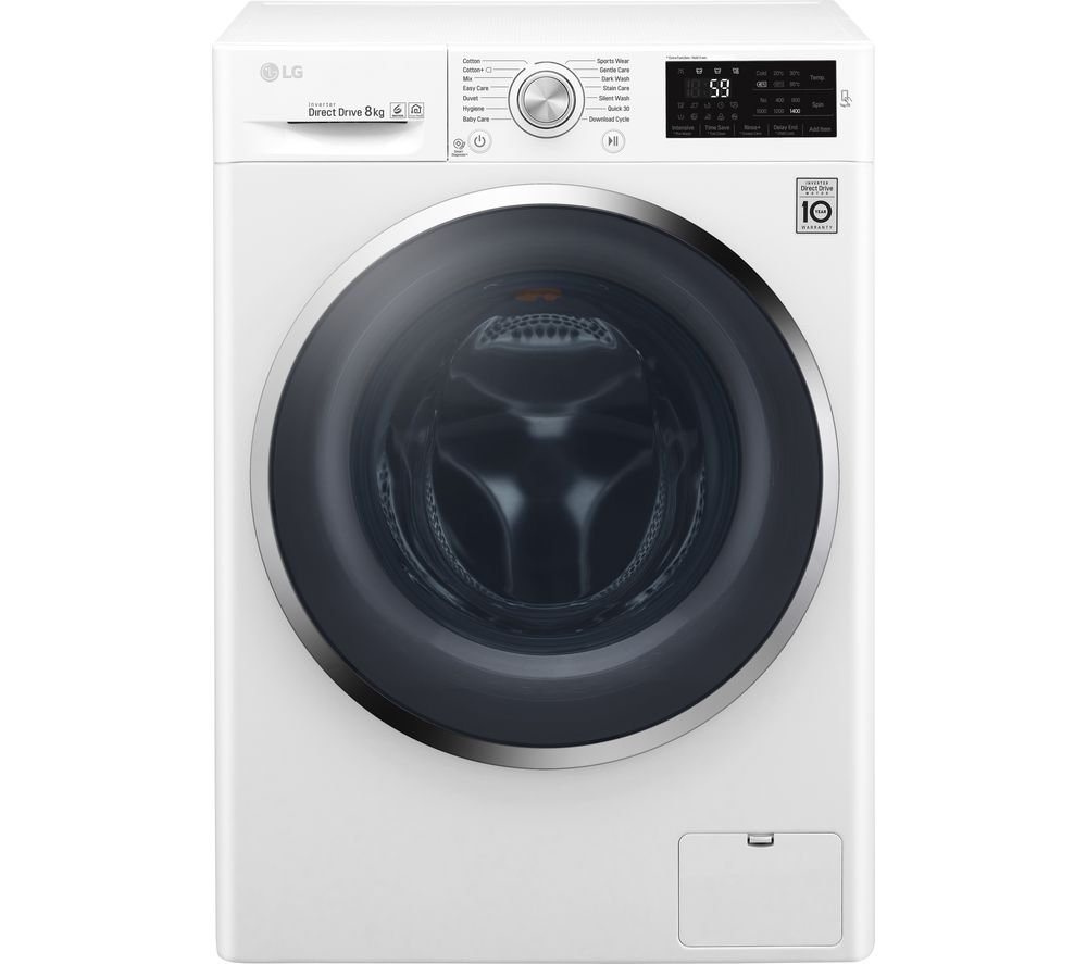 LG F4J6TN2W NFC 8 kg 1400 Spin Washing Machine - White