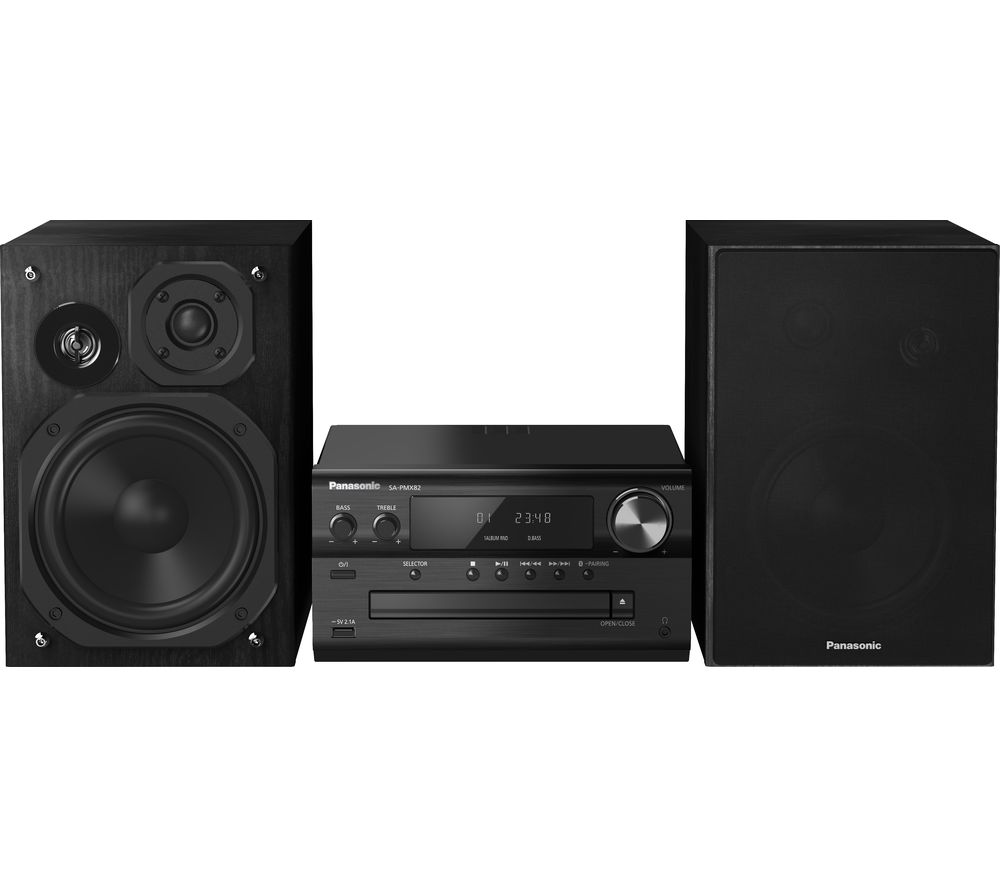 PANASONIC PMX82EB Wireless Traditional Hi-Fi System - Black