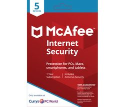 MCAFEE Internet Security 2018 - 1 user / 5 devices for 1 year