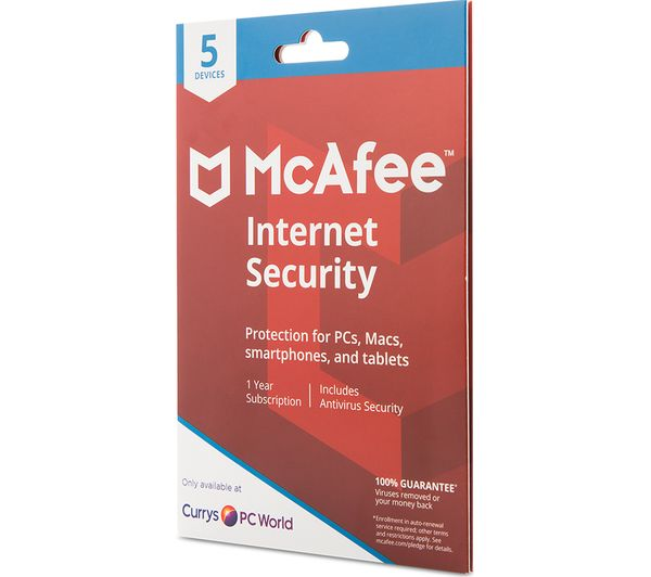 MCAFEE Internet Security 2018 - 1 year for 5 devices Fast ...