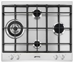 SMEG P261XGH Gas Hob - Stainless Steel