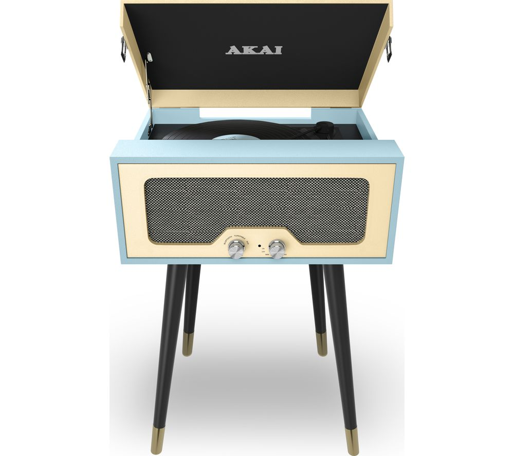 Image of AKAI A60022BL Bluetooth Turntable - Blue, Blue