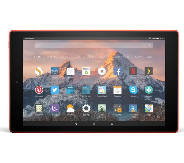 Image of AMAZON Fire HD 10 Tablet with Alexa (2017) - 32 GB, Red