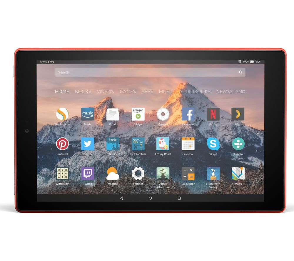 Image of AMAZON Fire HD 10 Tablet with Alexa (2017) - 32 GB, Red, Red