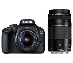 EOS 4000D DSLR Camera with EF-S 18-55 mm f/3.5-5.6 III & EF 75-300 mm f/4-5.6 III Lens