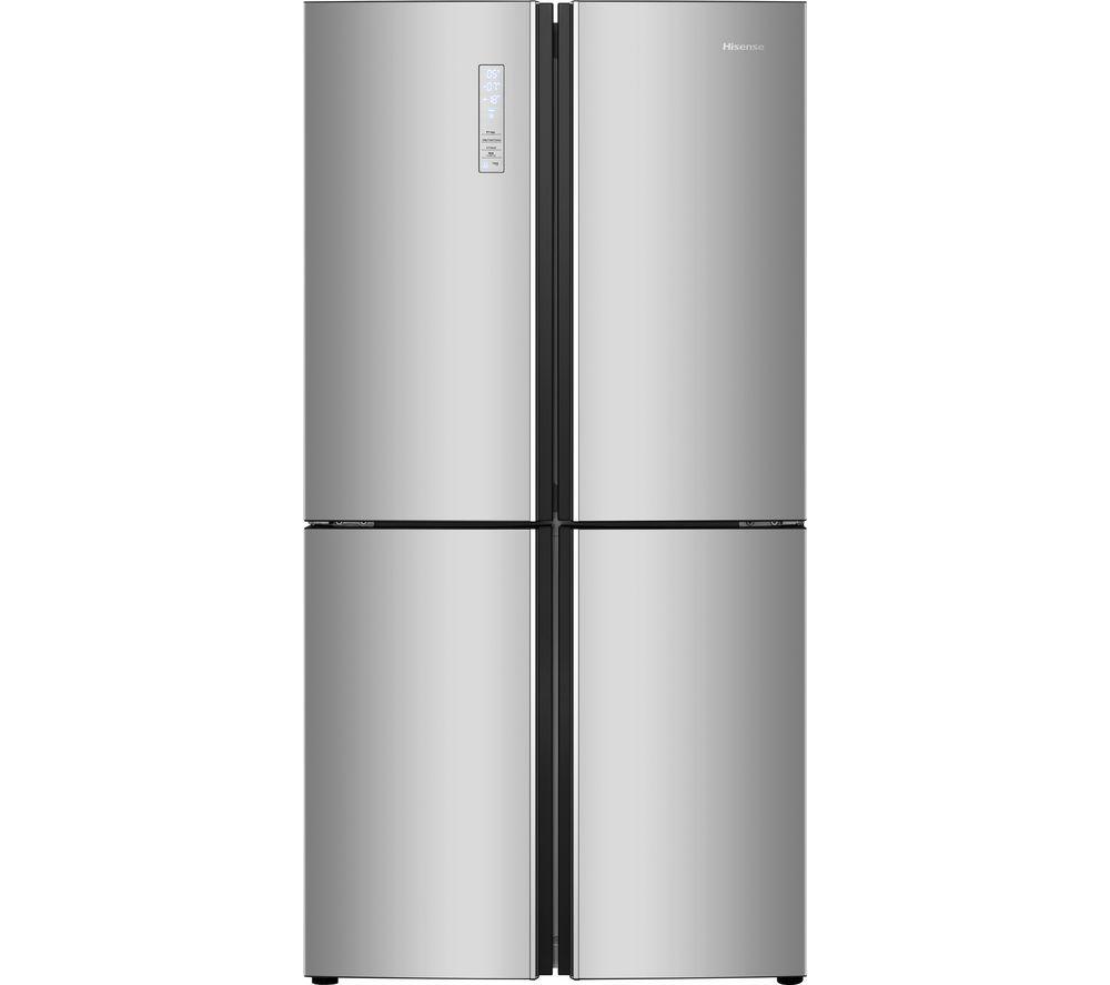 HISENSE RQ689N4BD1 Fridge Freezer - Silver, Silver