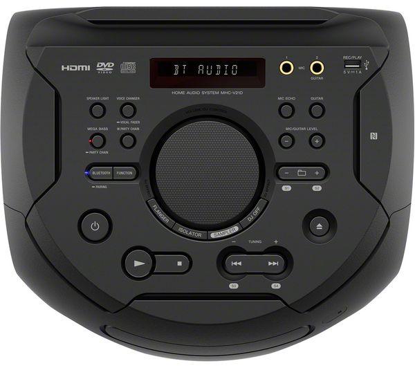 SONY MHC-V21D Bluetooth Megasound Party Speaker - Black Fast Delivery