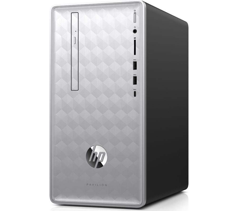 Image of HP Pavilion 590-p0100na Intel® Core™ i5+ Desktop PC - 2 TB HDD, Silver, Silver