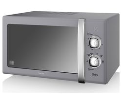SWAN SM22130GRY Solo Microwave - Grey Best Price, Cheapest Prices
