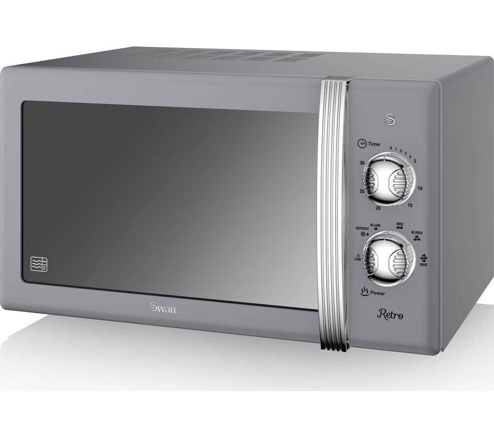 SWAN SM22130GRY Solo Microwave - Grey