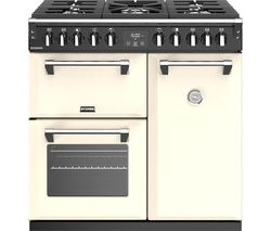 STOVES Richmond S900DF CC 90 cm Dual Fuel Range Cooker - Cream & Black