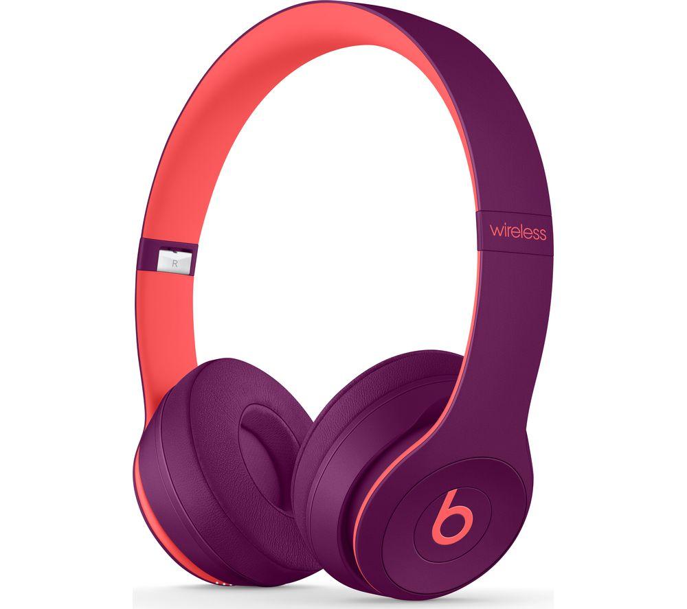 BEATS Solo 3 Wireless Bluetooth Headphones - Magenta Fast