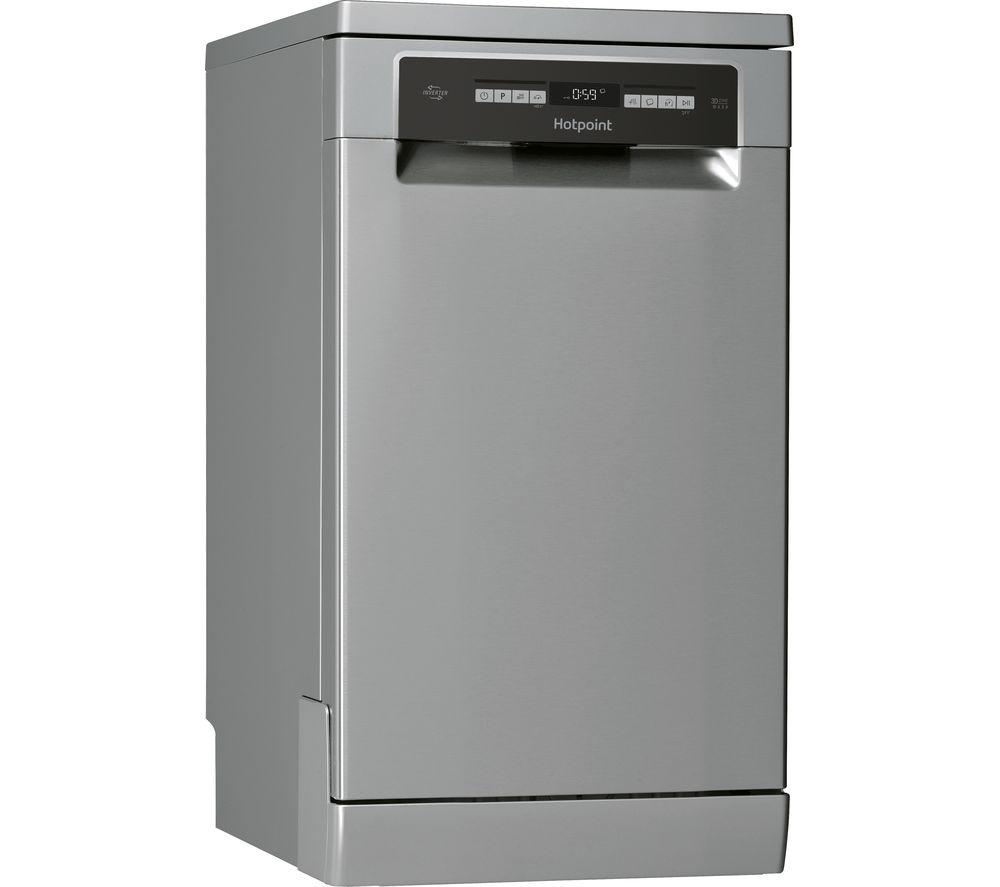 HOTPOINT HSFO 3T223 W X UK Slimline Dishwasher - Stainless Steel