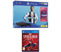 SONY PlayStation 4 500 GB, FIFA 19 & Marvel's Spider-Man Bundle