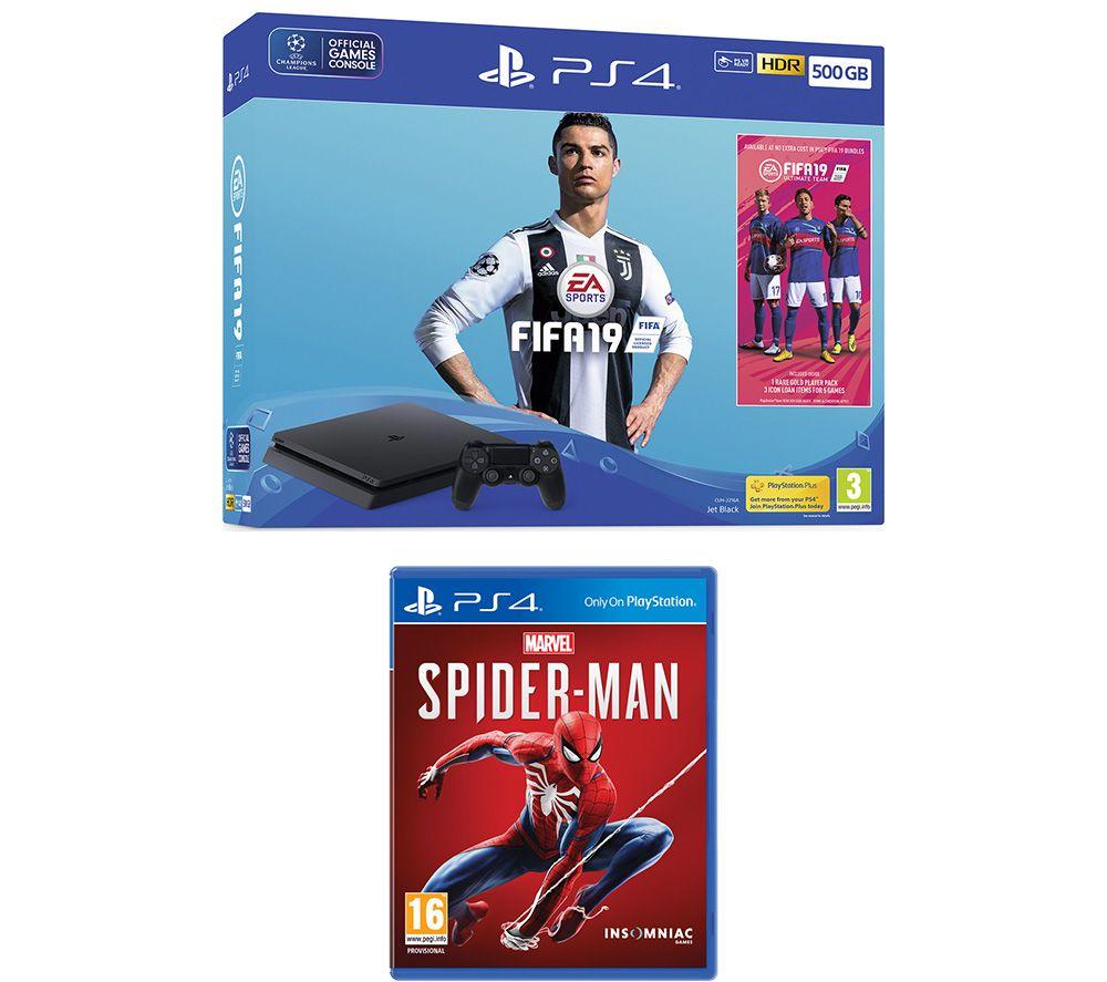 SONY PlayStation 4 500 GB, FIFA 19 & Marvels Spider-Man Bundle