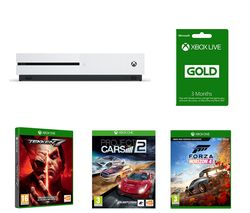 MICROSOFT Xbox One S, Tekken 7, Forza Horizon 4, Project Cars 2 & Xbox LIVE Gold Membership Bundle